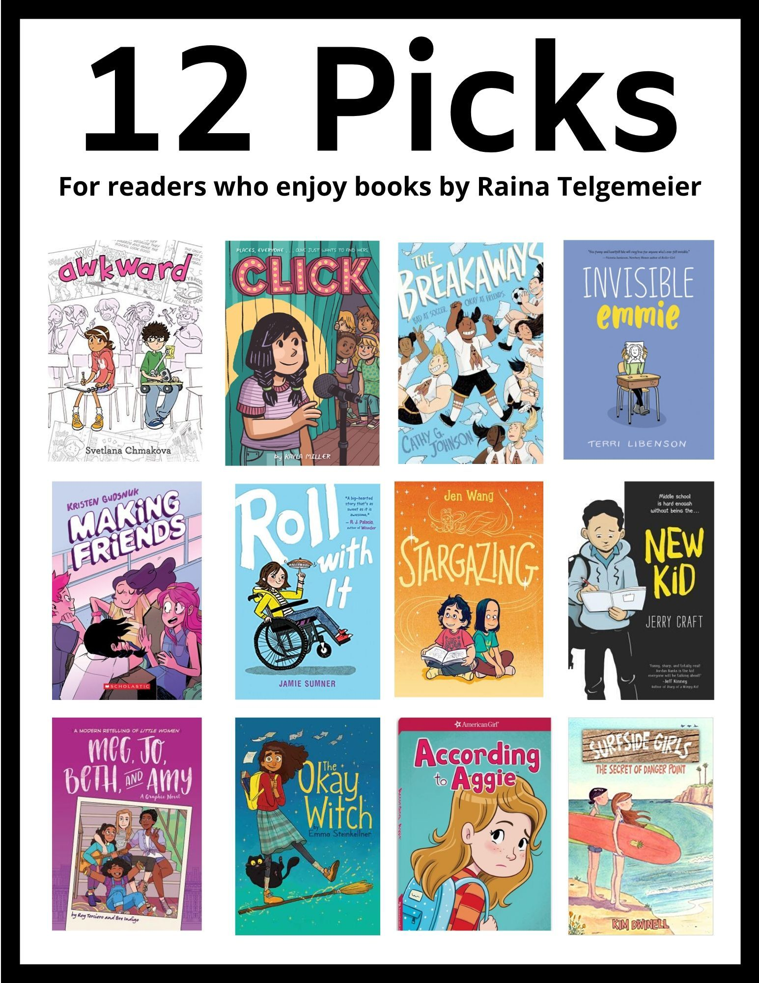 12 Books Tweens Can Read after Raina Telgemeier   Books for tweens ...