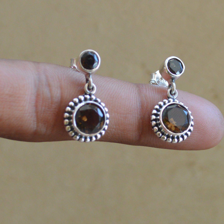 STUDS Round  MOONSTONE   Sterling  Silver  925  Gemstone Earrings 8 mm