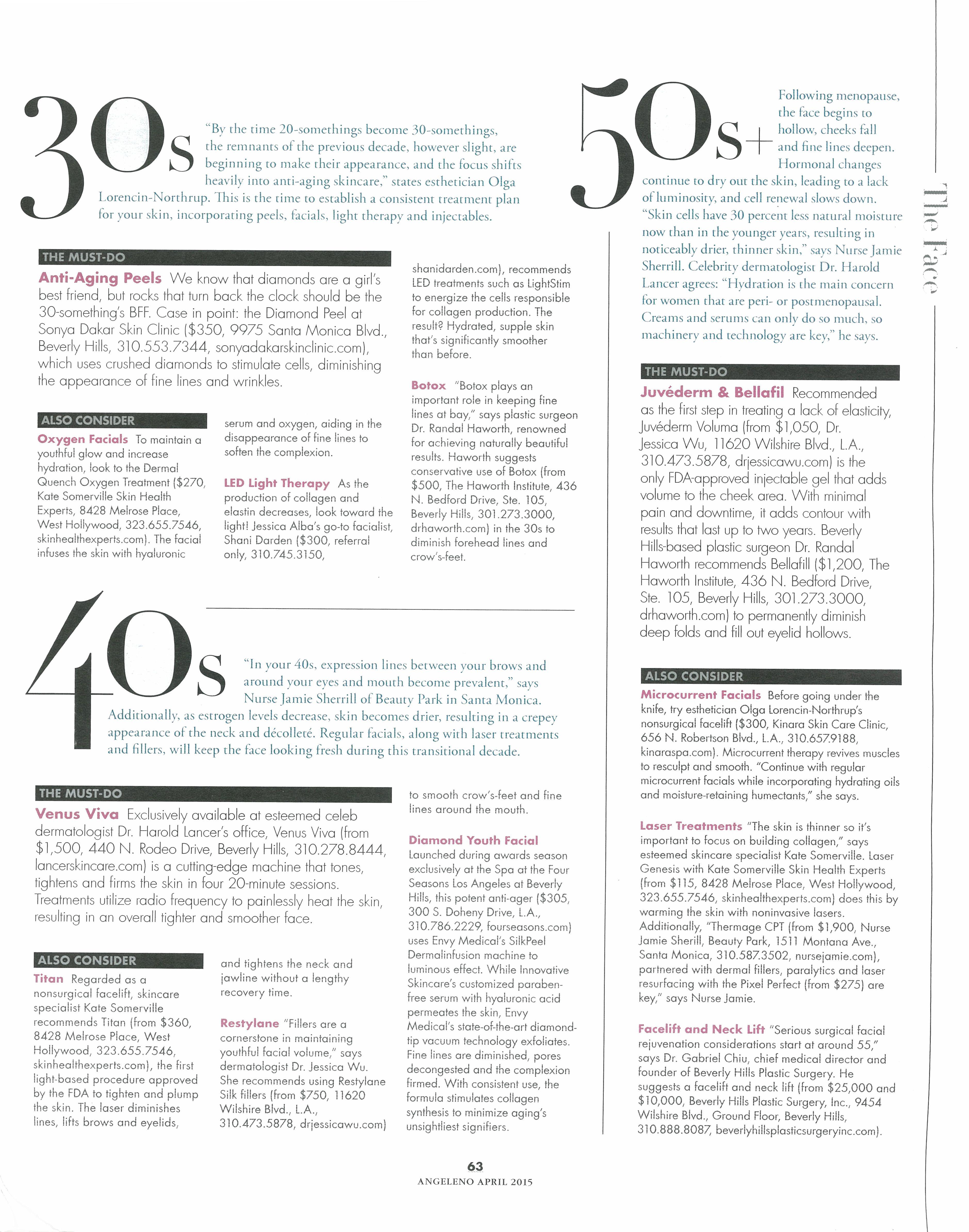 Angeleno Magazine- April 2015 | LightStim In the Press in