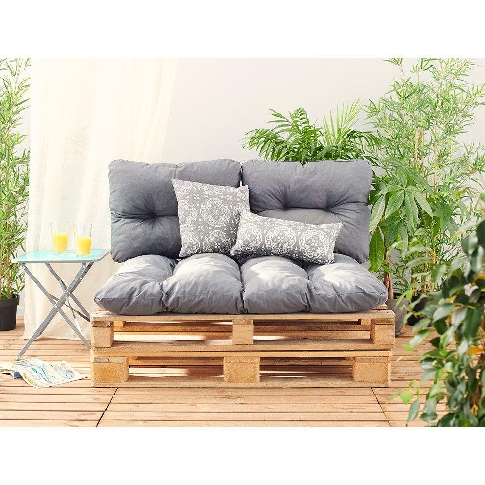 Coussin Et Tapis De Jardin Coussin Pour Palette Coussins Exterieur Et Fabriquer Un Canape