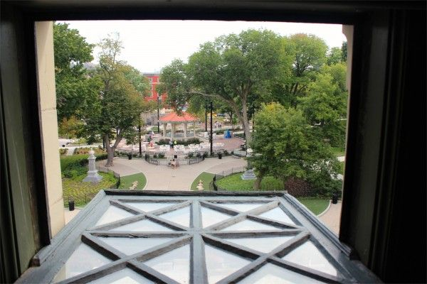 Washington Park as seen from a window at nearby Memorial Hall, #Cincinnati #thisisOTR