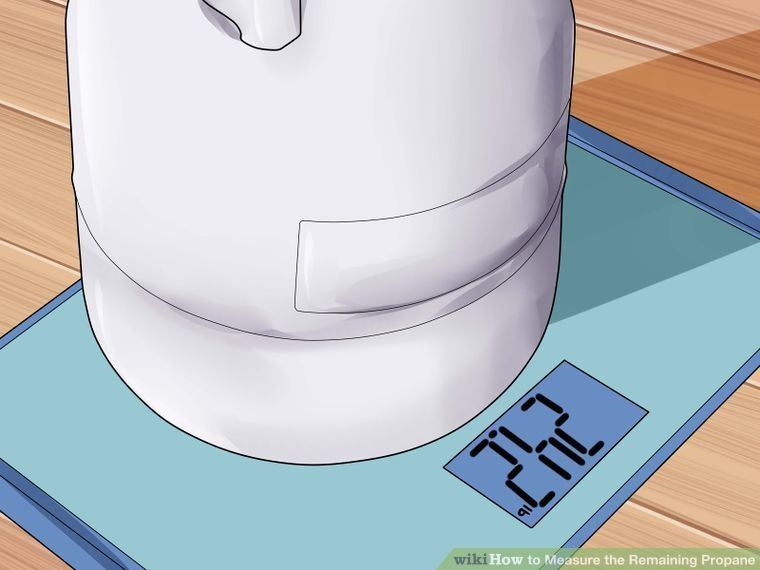 How to measure the remaining propane 6 steps with
