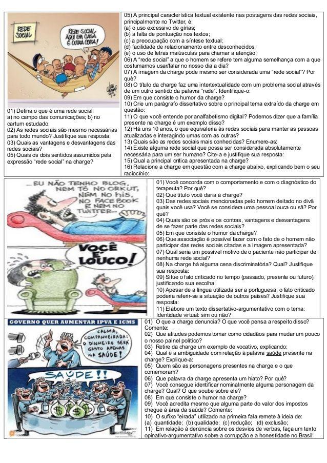 Interpretacao Charges Natal Portugues Interpretacao De Texto