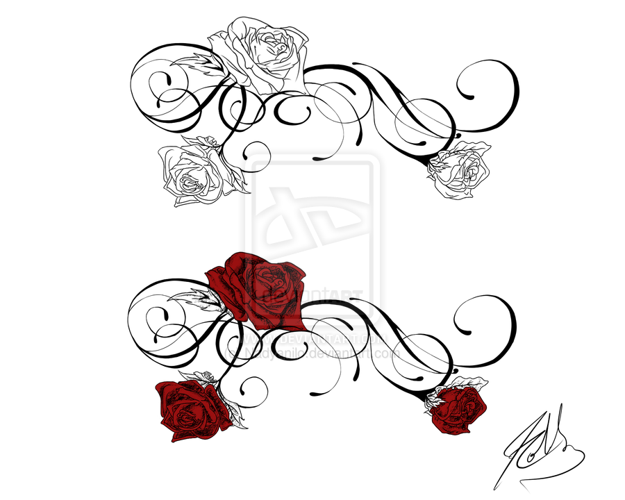 Front Shoulder Rose Tattoo By Nadyanilo On Deviantart Rose Vine Tattoos Back Tattoo Lower Back Tattoos