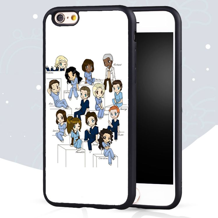 greys anatomy Cartoon Print Soft Rubber Skin Mobile Phone Cases For ...