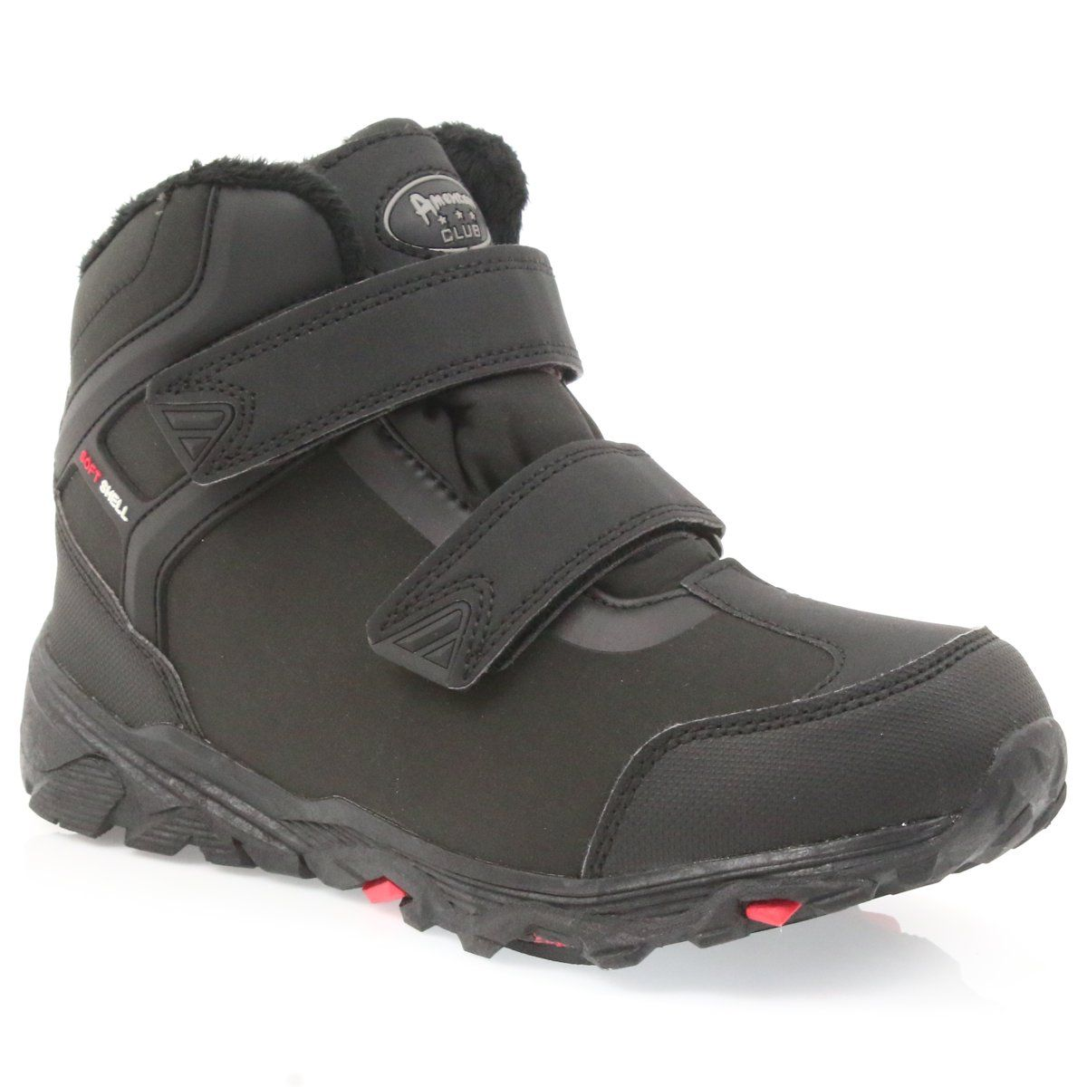 American Club American Trzewiki Buty Zimowe Z Membrana Czarne Softshell Shoes Sandals