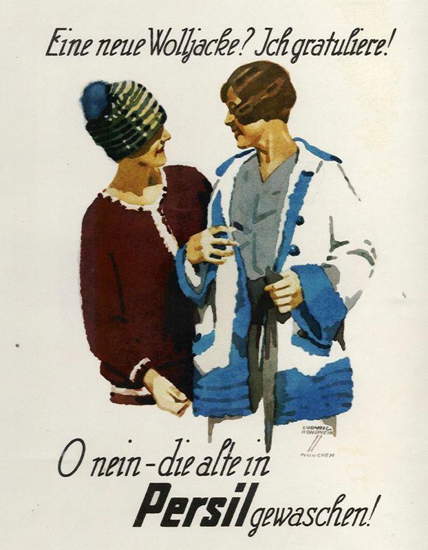 Hohlwein, Ludwig Eine neue Wolljacke? (bookplate), 1926. Shop original vintage posters online: www.internationalposter.com