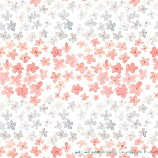 pink flower watercolor pattern