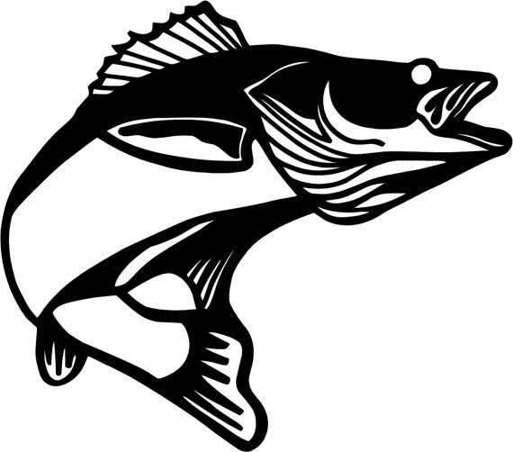 Download Walleye Silhouette Google Search Fish Silhouette Fishing Decals Fish Drawings