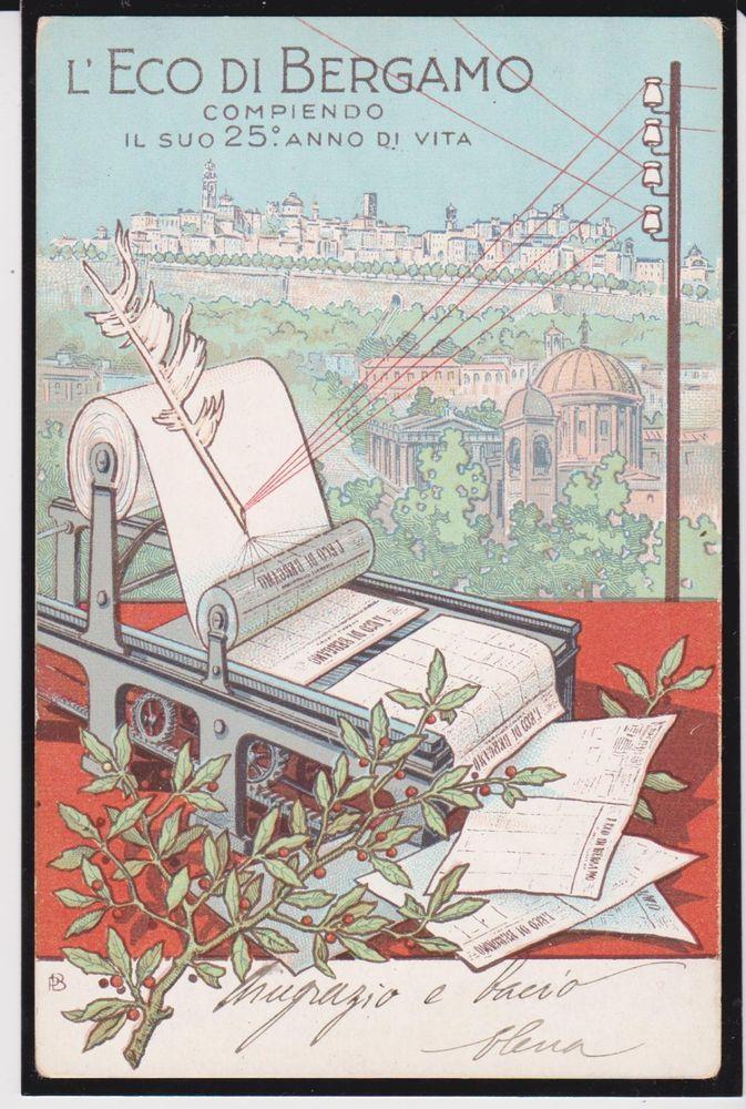 BERGAMO IL GIORNALE L'ECO DI BERGAMO COMMEMORATIVA 1905 ...