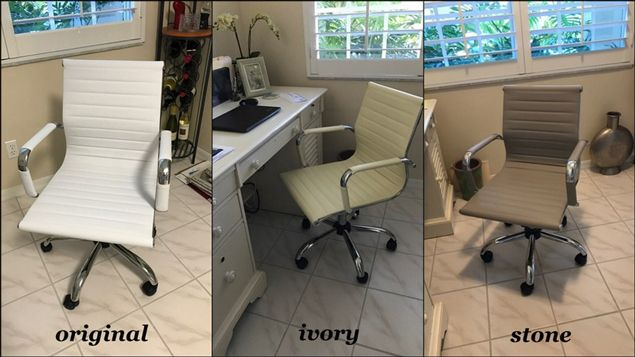 ivory leather office chair make up chairs color change couch paint
