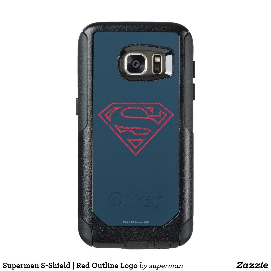 Superman S Shield Red Outline Logo Otterbox Samsung Galaxy S7 Case