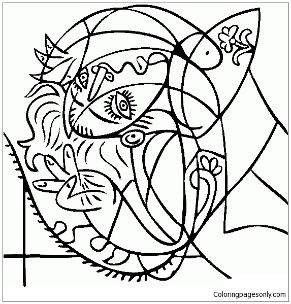 Famous Paintings 10 Coloring Page In 2020 Picasso Coloring Picasso Drawing Picasso Art