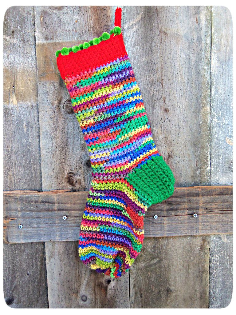 Simple crochet Christmas stocking pattern | I Pinned It and I Made ...