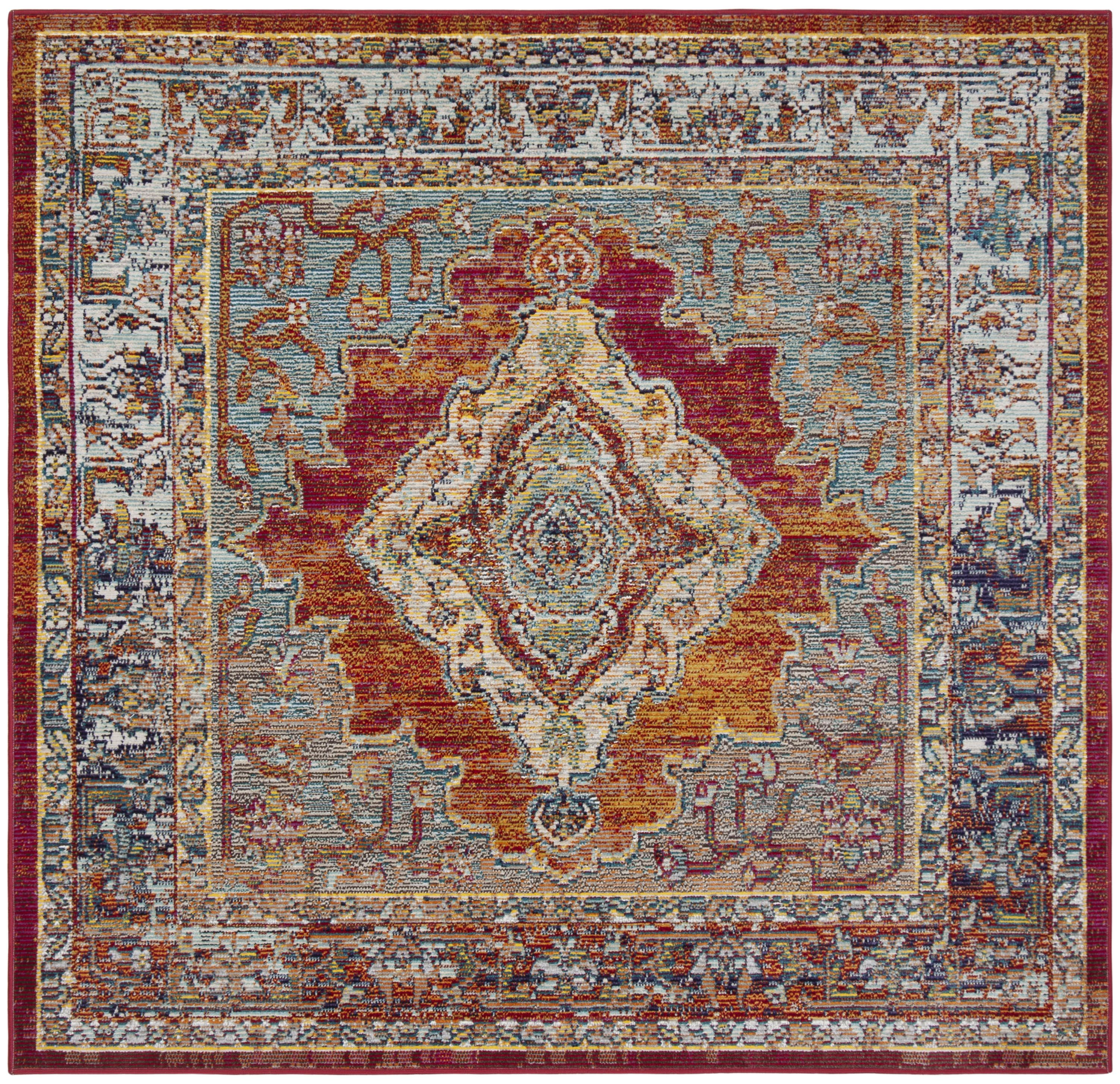 Safavieh Crystal Collection Crs500 7 X 7 Square Area Rug