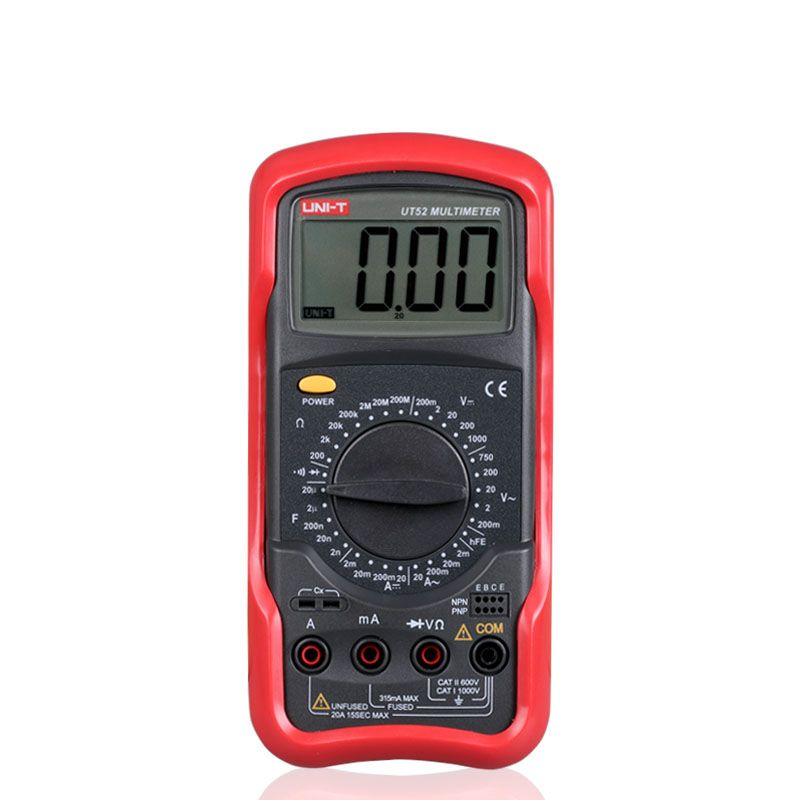 (Buy here: http://appdeal.ru/pmz ) 2016 UNI-T UT52 Universal Digital Multimeter Handheld DC/AC current voltage Capacitance Double-Integral A/D Converter  for just US $35.28