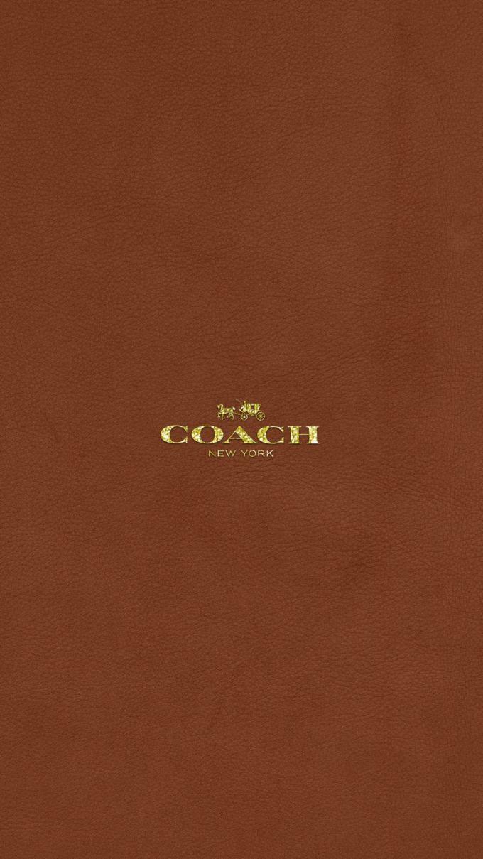 コーチ キラキラゴールドロゴ ブラウンレザー Hypebeast Wallpaper