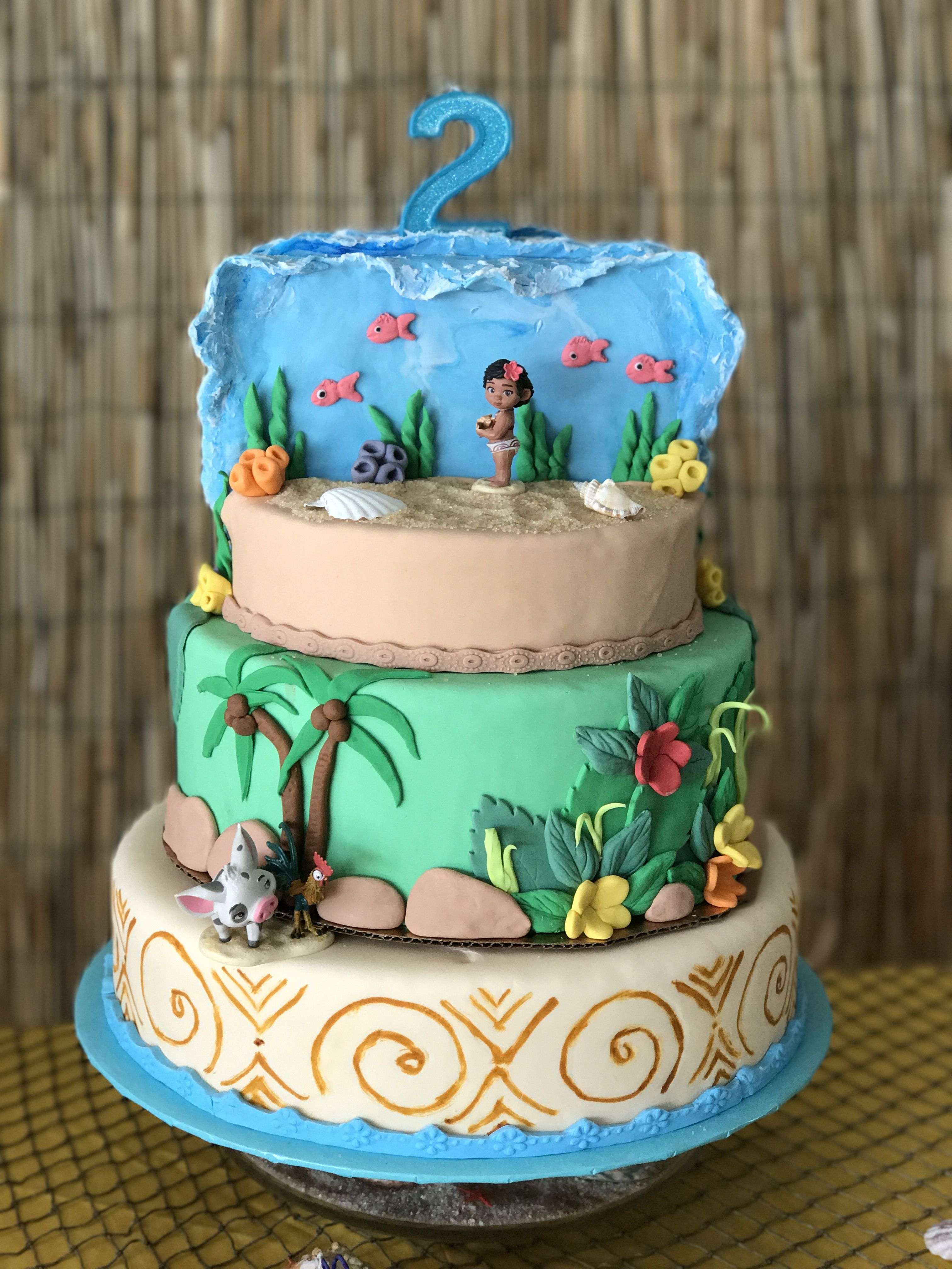 Party And Event Ideas Inspirations Moana Cake