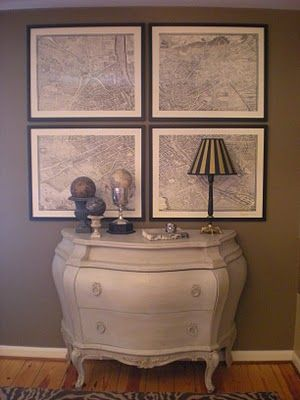 Unique Framing Ideas For Maps Pinterest Vignettes Urn And Globe - Framing a map print