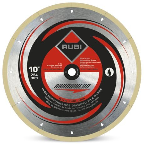 Rubi Arrowhead 10 Diamond Blade Rubi Diamond Blades Arrowhead
