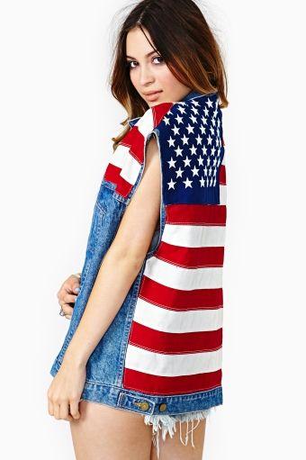 American Girl Denim Vest | Stars, Stripes, and Sass