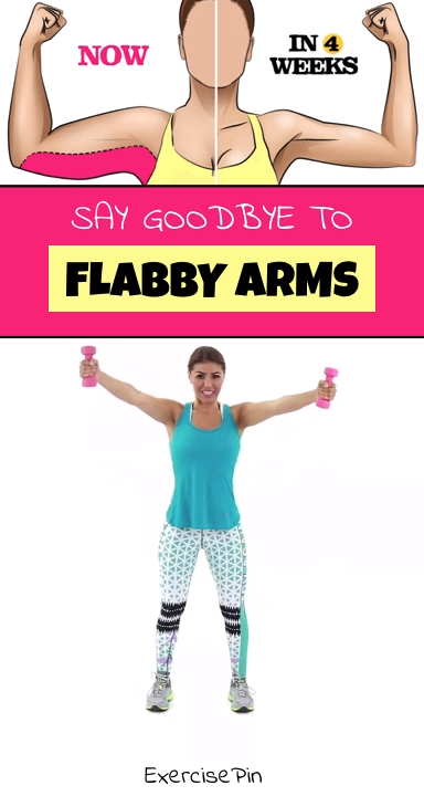 Say Goodbye To Flabby Arms #exercisesforupperback