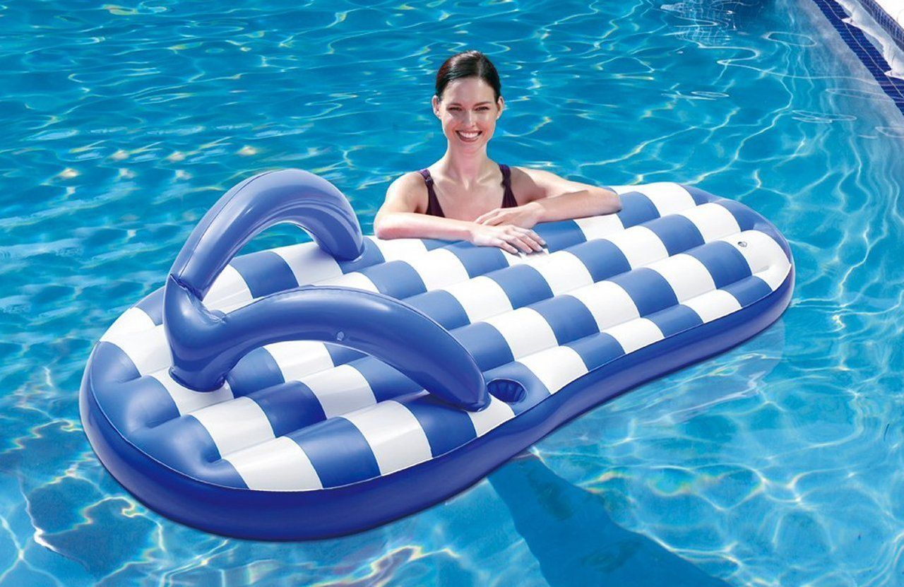 Amazon Com Blue Wave Marine Blue Flip Flop Inflatable