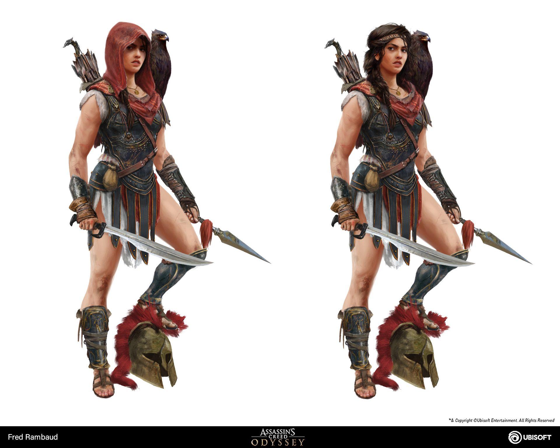 Artstation Kassandra Assassin S Creed Odyssey Concept Art Fred Rambaud Assassin S Creed Assassins Creed Odyssey Warrior Concept Art