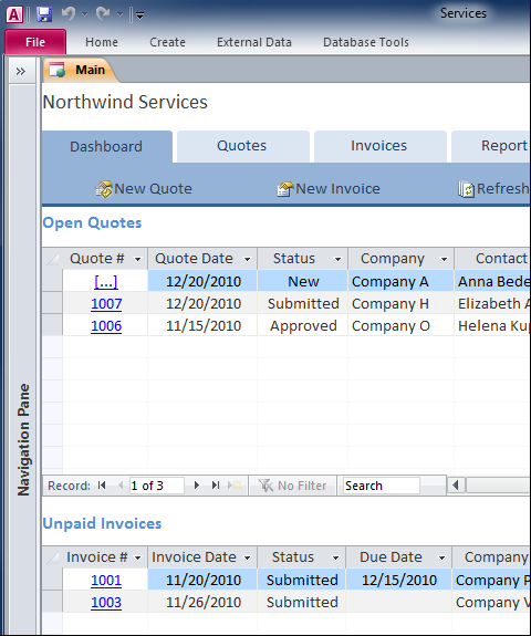 Create Maintain Comprehensive Business Services Database  Ideas