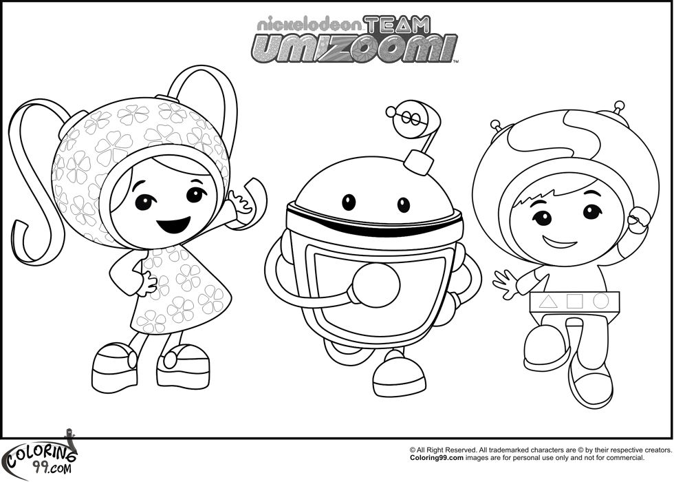 Team Umizoomi Coloring Pages Well It Is Not Very Clear About Who