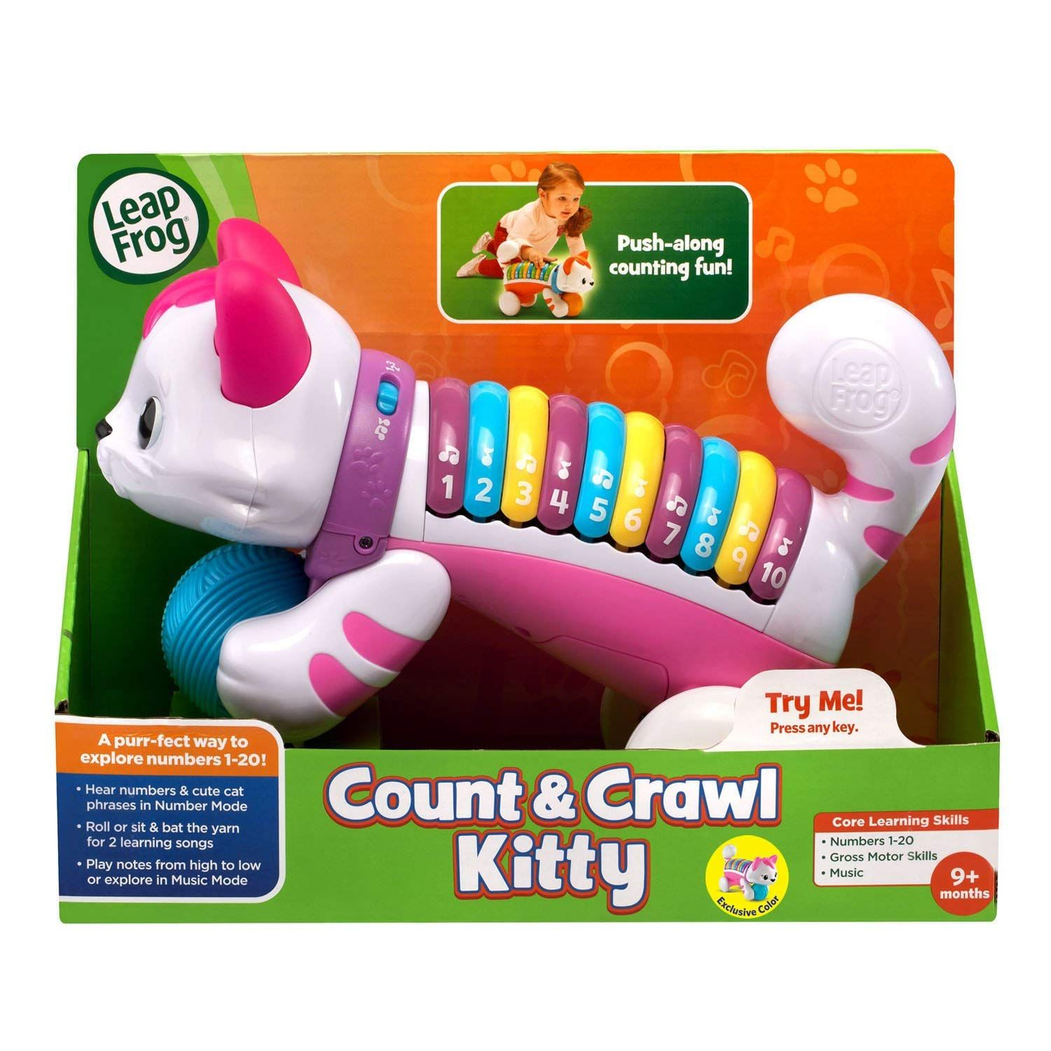 554f73e95 Amazon.com  LeapFrog Count   Crawl Number Kitty Musical Toy  Toys ...