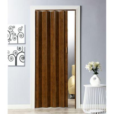 Puerta plegable pvc milano nogal 90 cm ancho x 200 cm alto - Precio puertas plegables ...