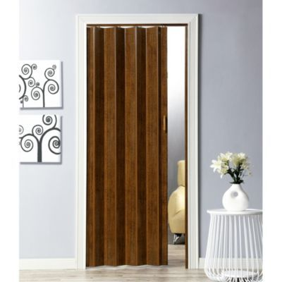 Puerta plegable pvc milano nogal 90 cm ancho x 200 cm alto for Ancho puerta entrada casa