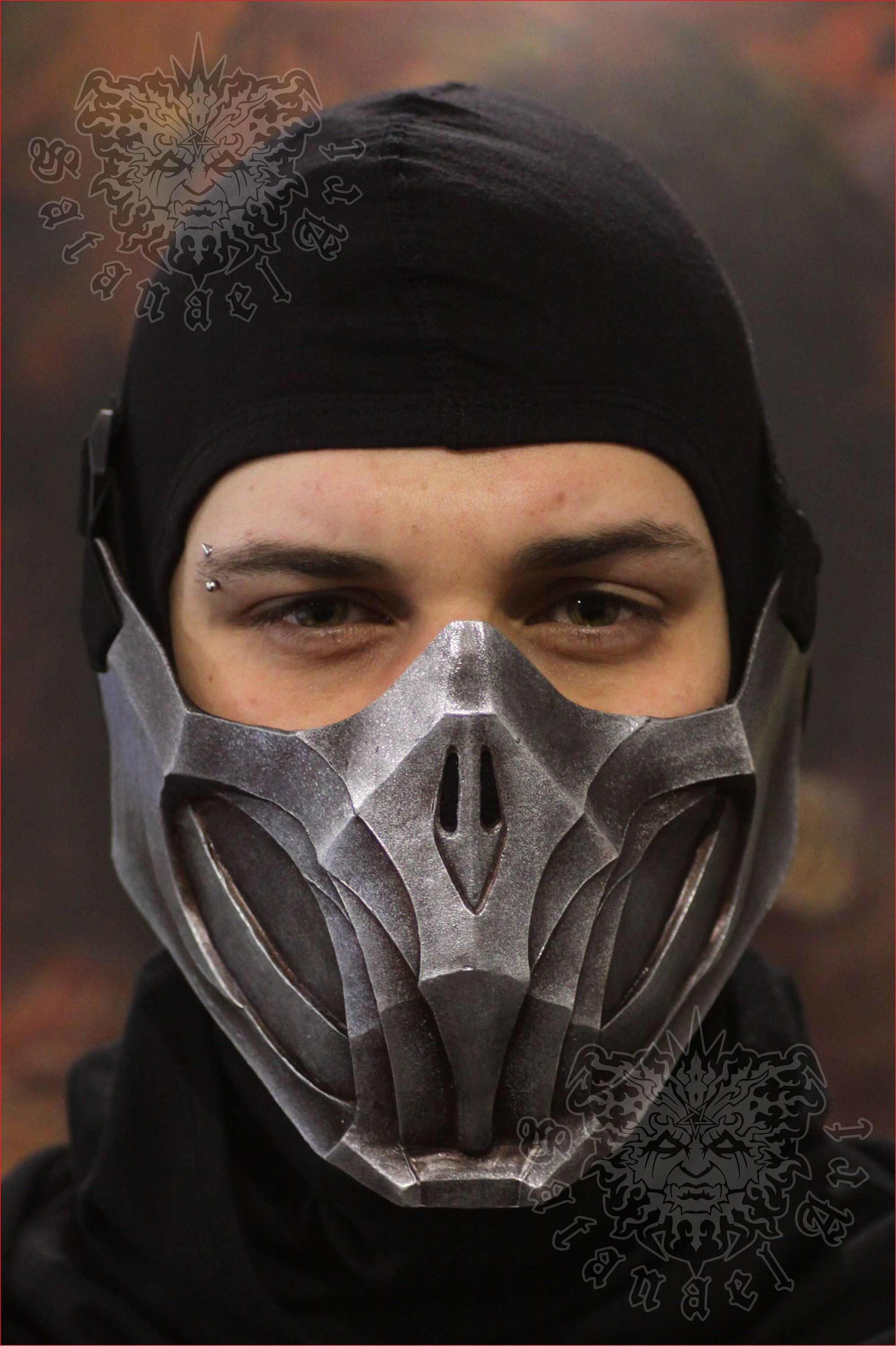 Scorpion Mask Metal Finish Mortal Kombat 11 Mask Mask Drawing