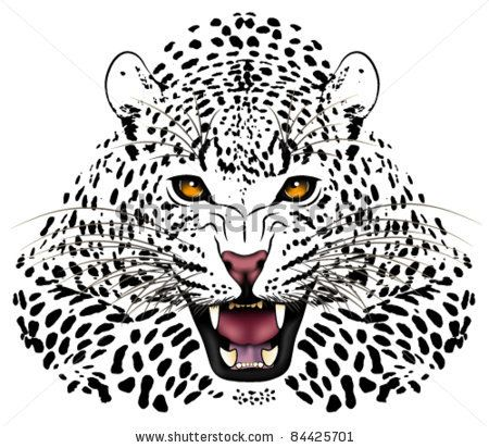 3366e0cce Vector leopard executed in the form of a tattoo by flankerd, via  Shutterstock