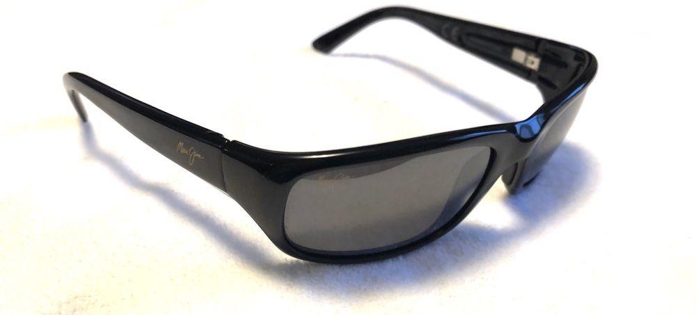 0167d7db8e3 New Maui Jim Stingray 103-02 Gloss Black Grey Polarized Lens Sunglasses