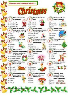 A quiz about christmas i hope you like it esl worksheets a quiz about christmas i hope you like it esl worksheets ibookread Read Online