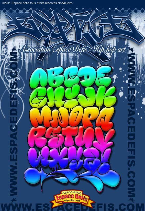 2 , Alphabet graffiti bubble style arc,en,ciel , Vous avez choisi celui