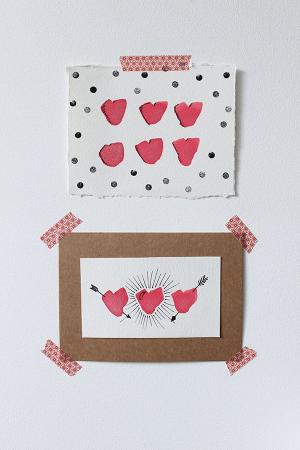 Hirameki Quick And Easy Diy Watercolour Valentines Cards Growing