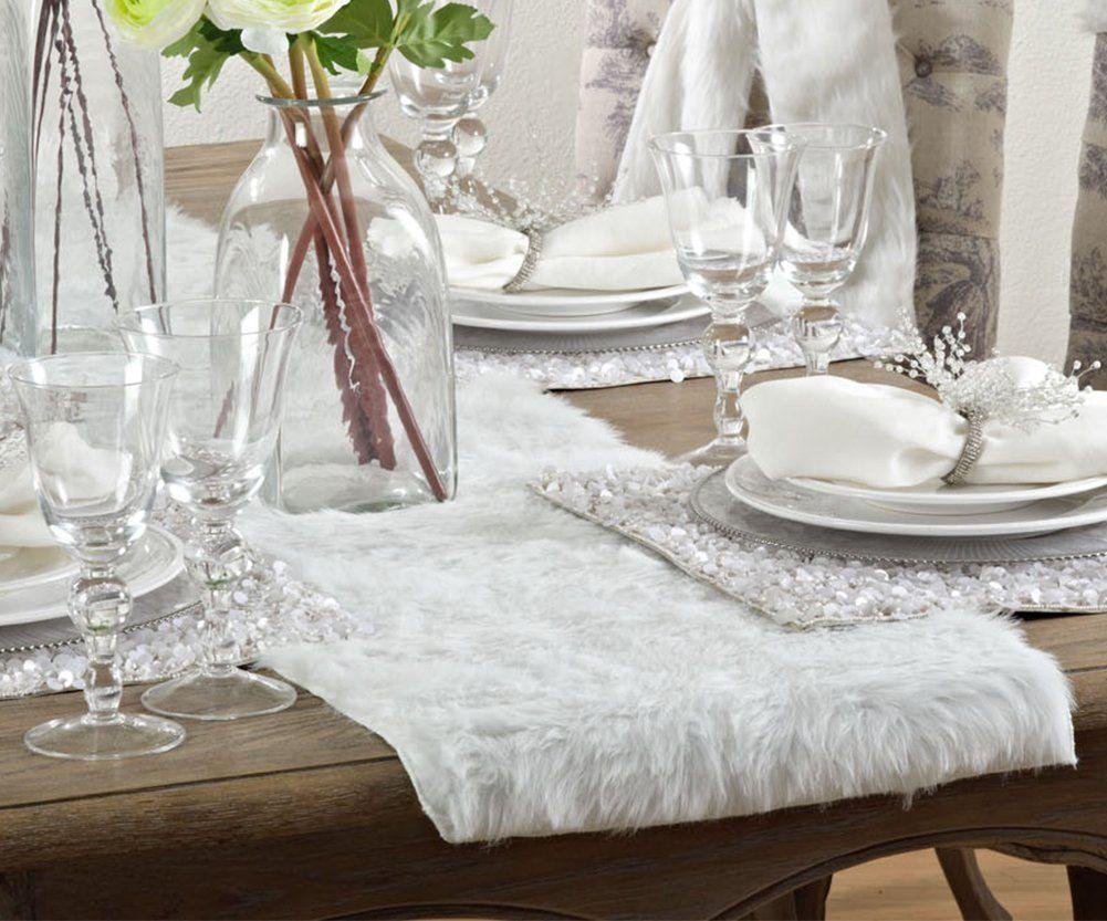 Amazon Juneau Faux Fur Table Runner 15x72 Kitchen