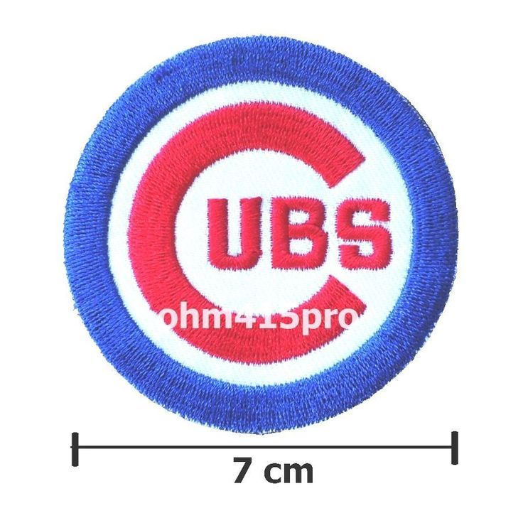 7ac481e53b9 NEW MLB CHICAGO CUBS LOGO BASEBALL EMBROIDERED IRON-ON PATCHES 2.8 INCH   ChicagoCubs