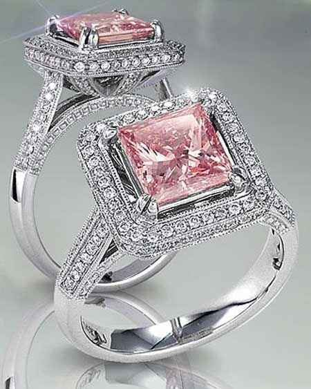 Pink Diamond Engagement Rings Tiffany's...pretty!!!!