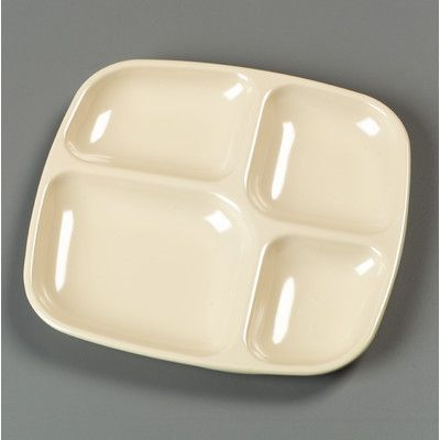 Carlisle Food Service Products Melamine 4-Compartment Serving Dish ...