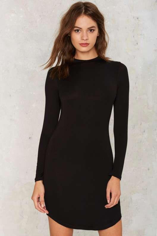 Morning Crew Mini Dress - Black