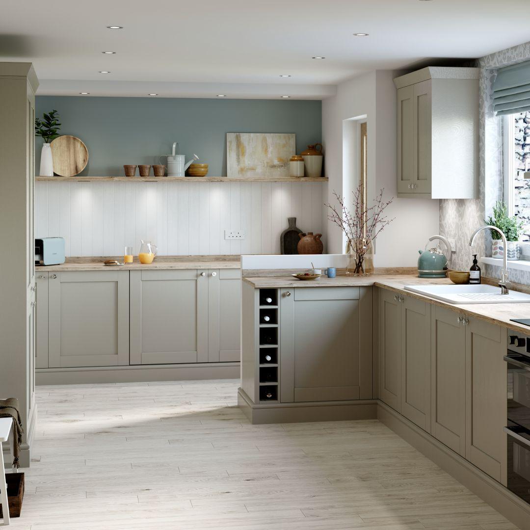 Contemporary Cream Shaker Kitchen Cgi Contemporary Kitchen Replacement Kitchen Doors White Kitchen Design