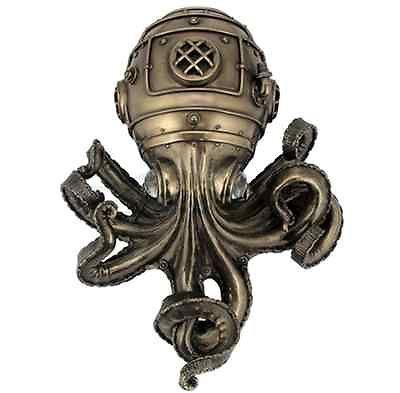 Steampunk Octopus Wall Plaque Sculpture - WE SHIP WORLDWIDE