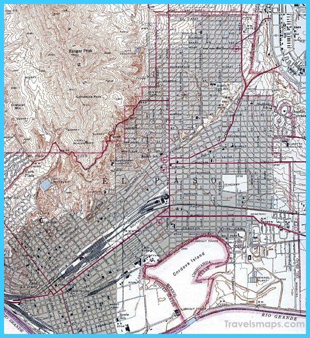 City Map Of El Paso Texas on