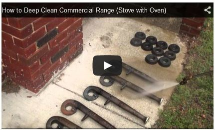 How to Deep Clean Commercial Range  How to correctly deep steam clean Commercial Range (Stove with Oven). Cleaning Tips for Commercial Restaurant Ranges/Rangetops/Ovens - Grates/Burner Caps https://youtu.be/Eg8WVymvX-w