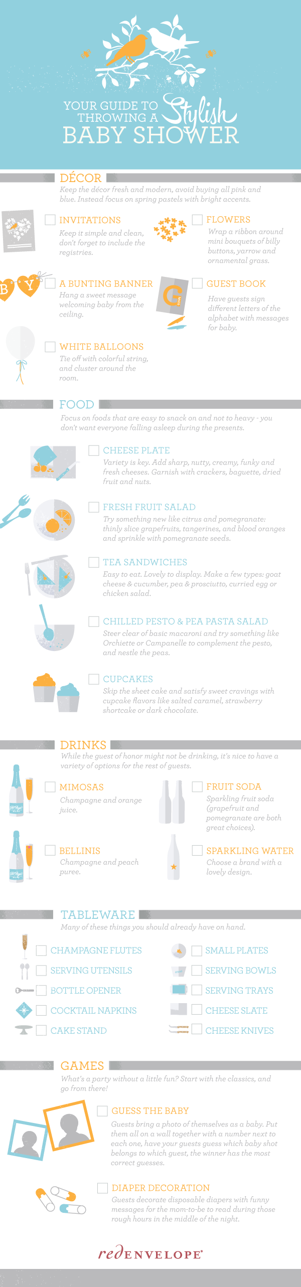 Throwing a Baby Shower Infographic