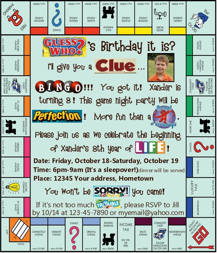 board game party invitation Google Search – Clue Party Invitations